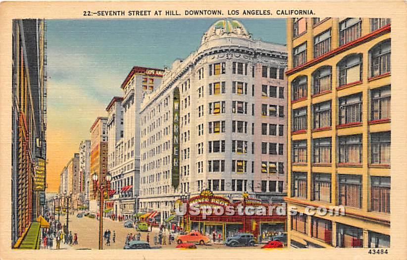 Seventh Street - Los Angeles, California CA Postcard
