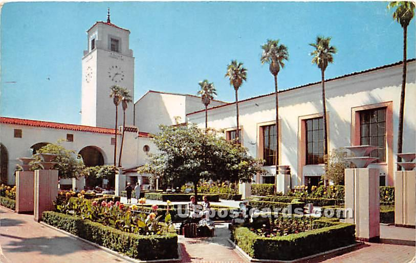 South Patio, Union Station - Los Angeles, California CA Postcard