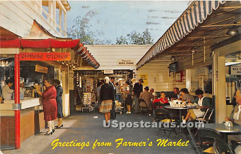 Farmers' Market - Los Angeles, California CA Postcard