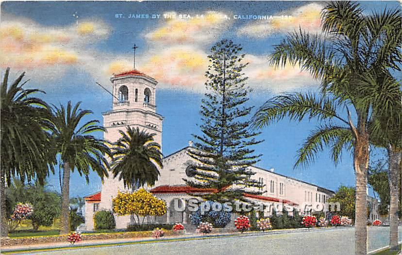 St James by the Sea - Los Angeles, California CA Postcard