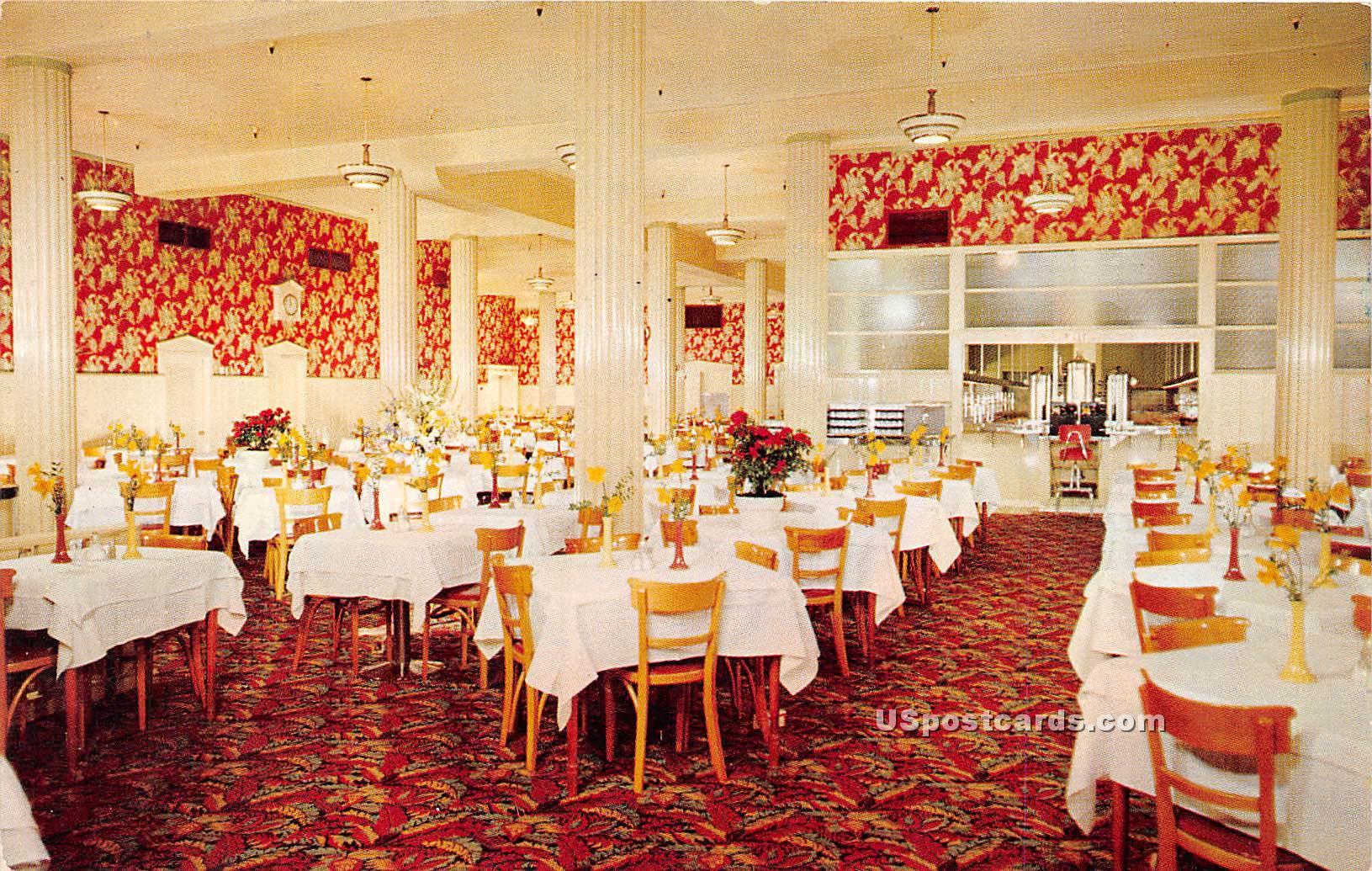 Ontra Cafeterias - Los Angeles, California CA Postcard