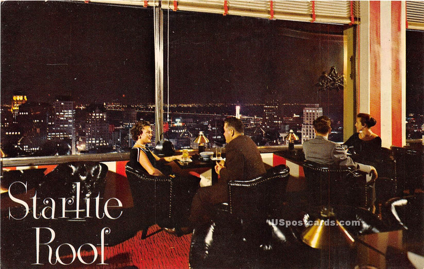 Starlite Roof, Sir Francis Drake Hotel - Los Angeles, California CA Postcard
