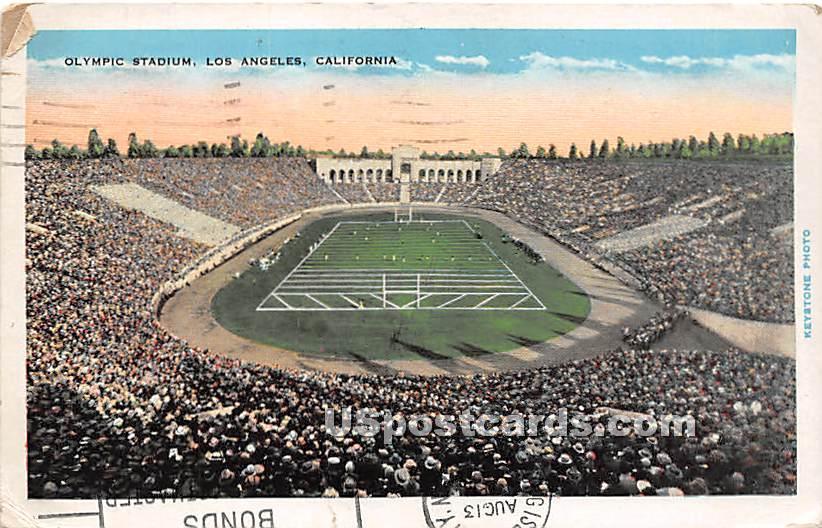 Olympic Stadium - Los Angeles, California CA Postcard