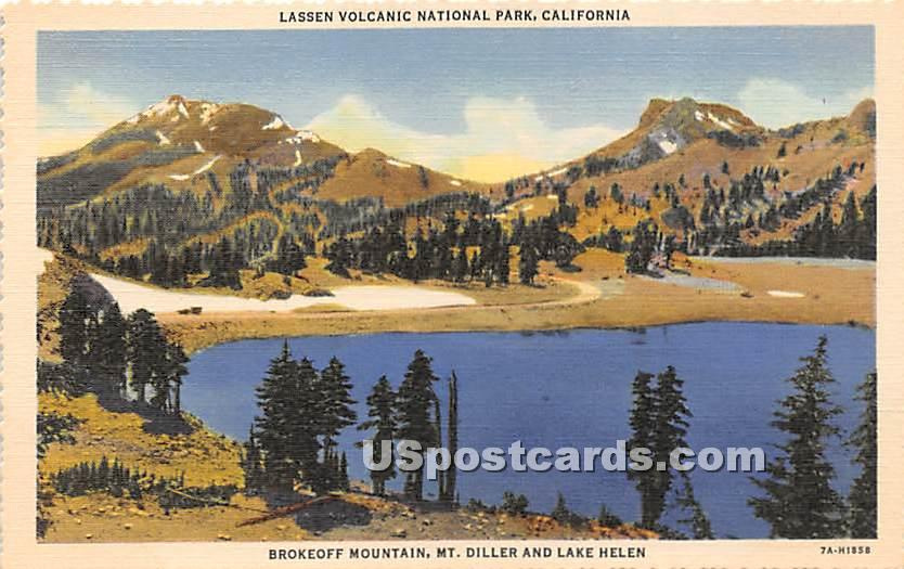 Brokeoff Mountain - Lassen Volcanic National Park, California CA Postcard