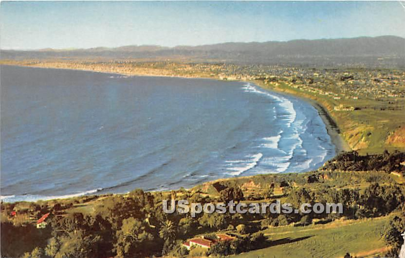 Los Angeles County West Coast Beaches - California CA Postcard