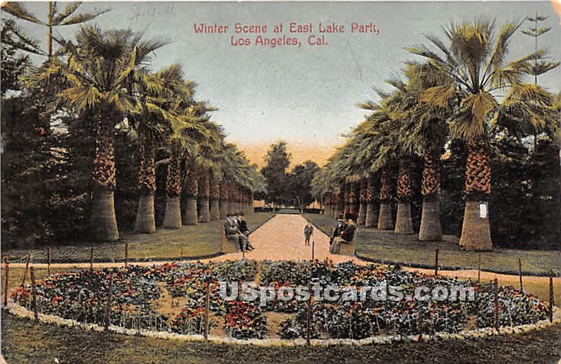 East Lake - Los Angeles, California CA Postcard