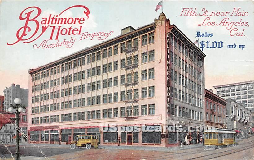 Baltimore Hotel - Los Angeles, California CA Postcard