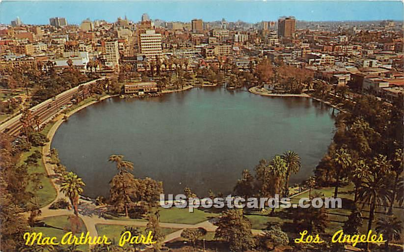 Mac Arthur Park - Los Angeles, California CA Postcard
