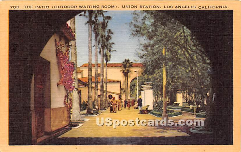 Patio, Union Station - Los Angeles, California CA Postcard
