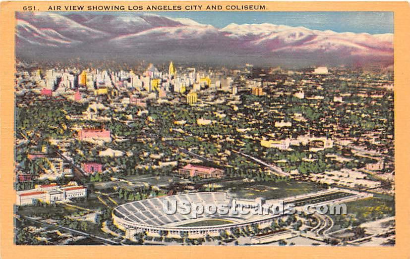 Coliseum - Los Angeles, California CA Postcard