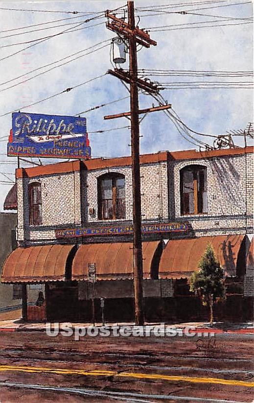 Philippe, The Original - Los Angeles, California CA Postcard