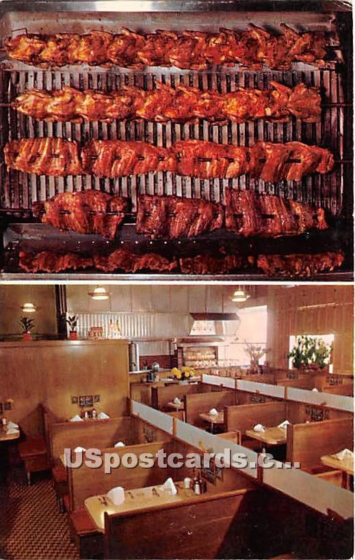 Original Barbecue - Los Angeles, California CA Postcard