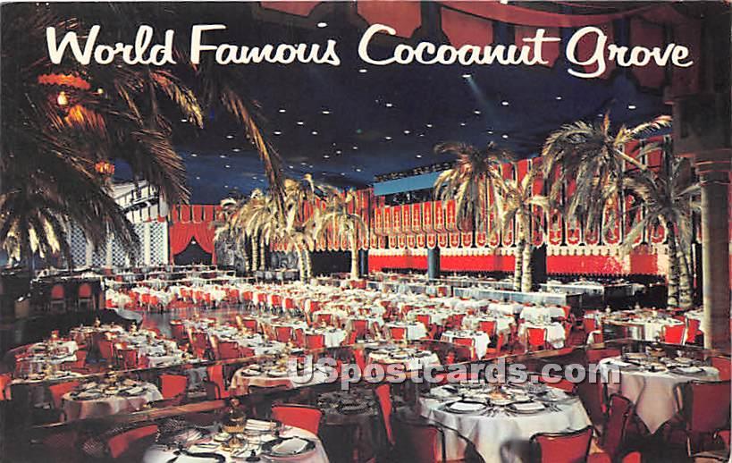 Cocoanut Grove, Ambassador Hotel - Los Angeles, California CA Postcard