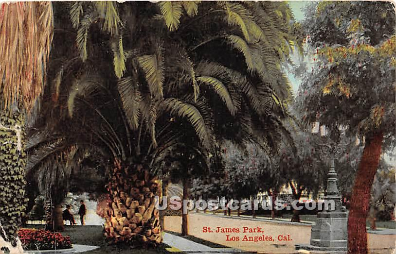 St James Park - Los Angeles, California CA Postcard