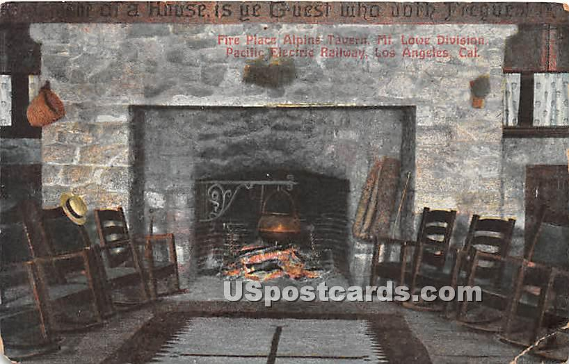 Fire Place Alpine Tavern - Los Angeles, California CA Postcard