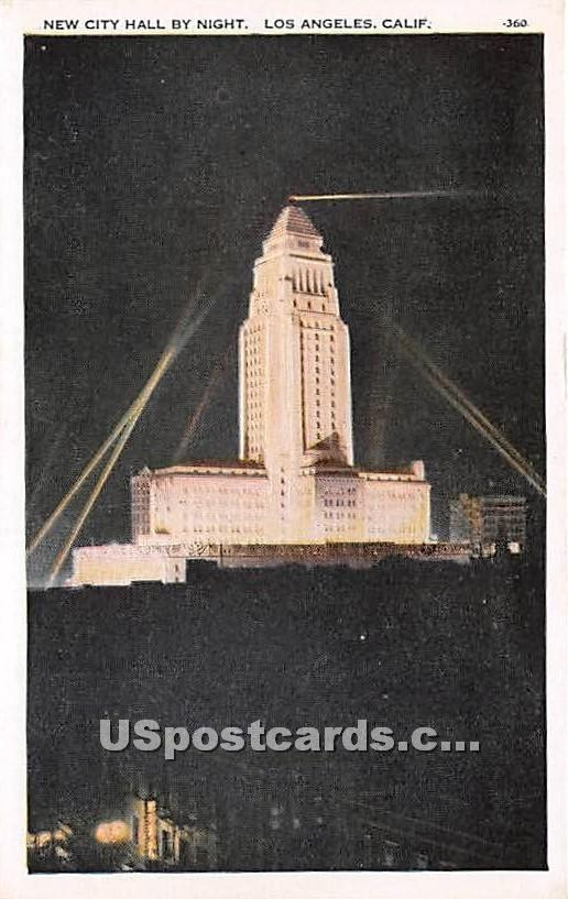 New City Hall - Los Angeles, California CA Postcard
