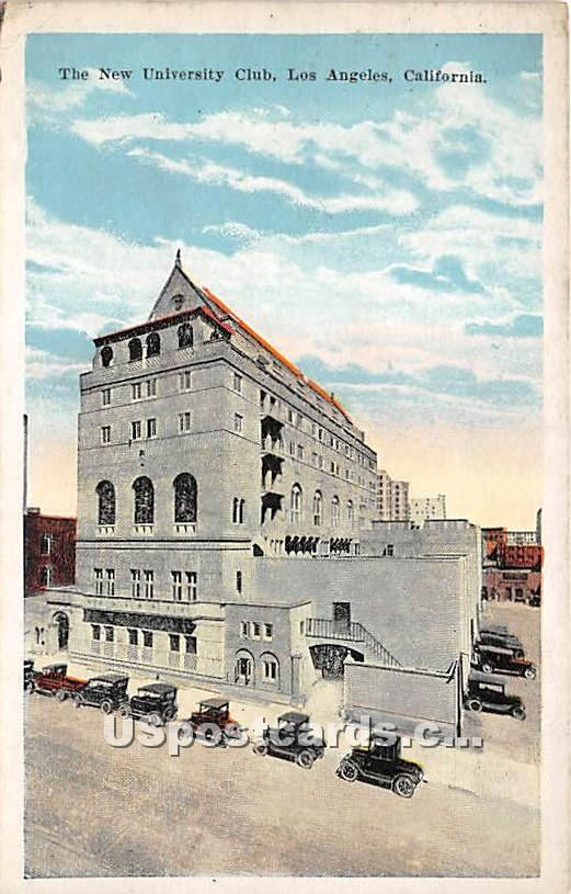 New University Club - Los Angeles, California CA Postcard