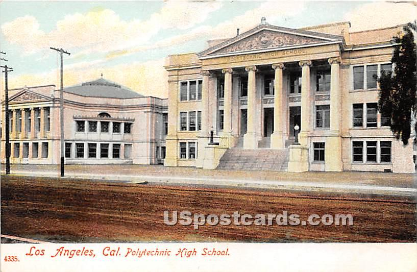 Polytechnic High School - Los Angeles, California CA Postcard