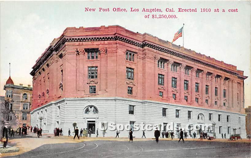 New Post Office 1910 - Los Angeles, California CA Postcard