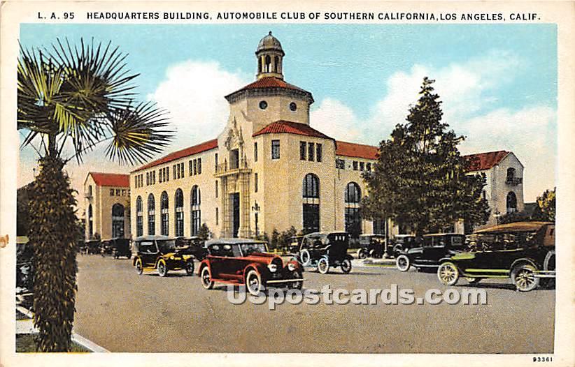 Headquarters Building, Automobile Clun - Los Angeles, California CA Postcard