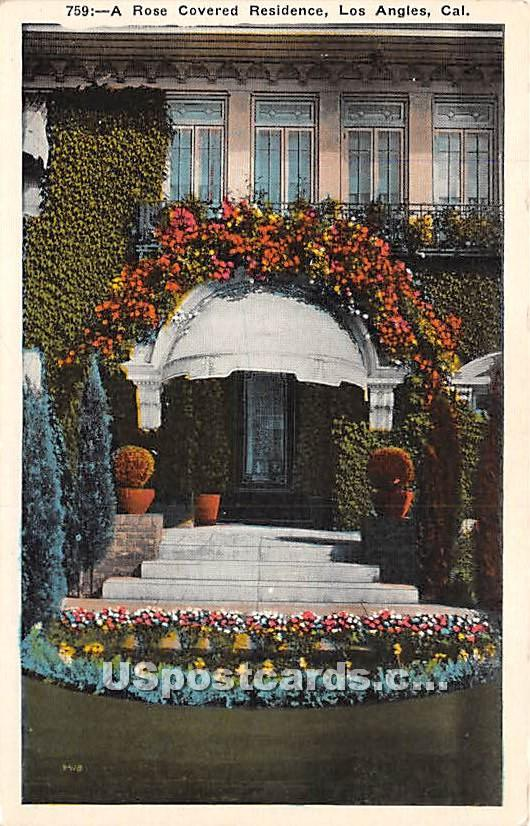 Rose Covered Residence - Los Angeles, California CA Postcard