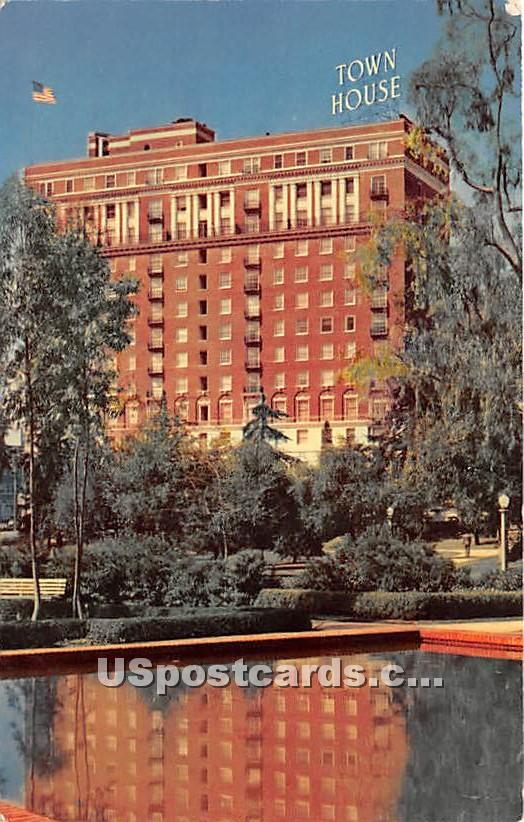 Town House - Los Angeles, California CA Postcard