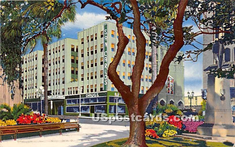 San Carlos Hotel - Los Angeles, California CA Postcard