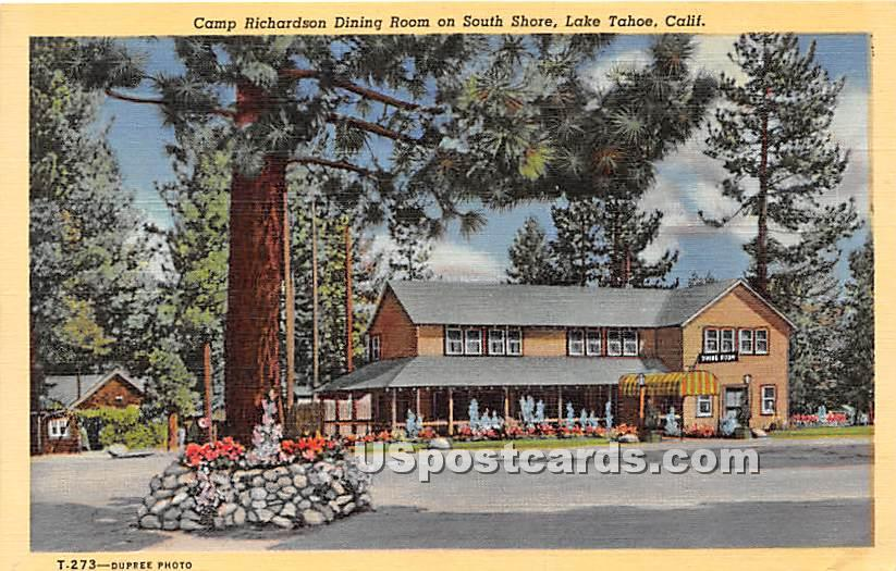 Camp Richardson Dining Room - Lake Tahoe, California CA Postcard