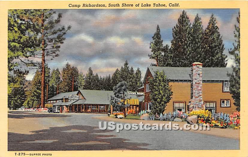 Camp Richardson - Lake Tahoe, California CA Postcard