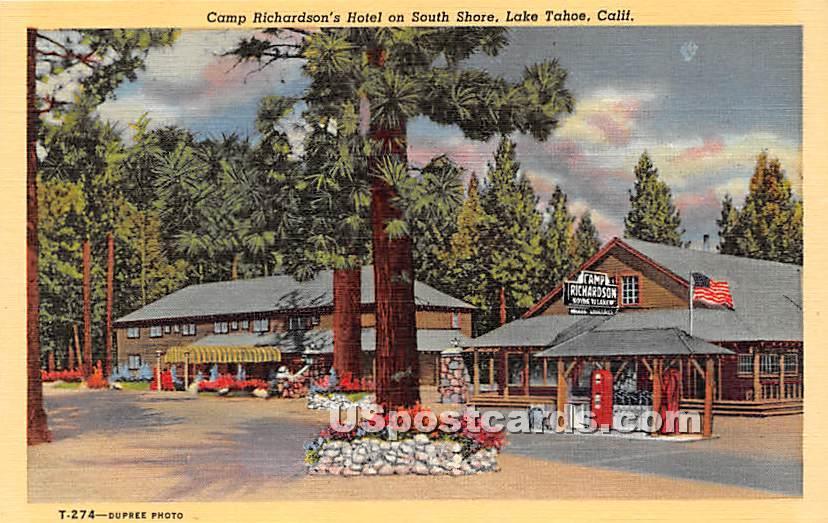 Camp Richardson's Hotel - Lake Tahoe, California CA Postcard