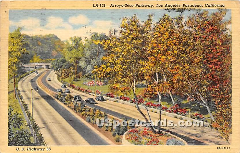 Arroyo Seco Parkway - Los Angeles, California CA Postcard