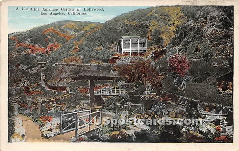 Japanese Garden in Holleywood - Los Angeles, California CA Postcard