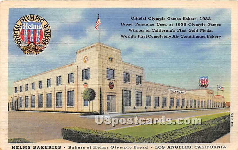 Helms Bakeries, Olympic Bread - Los Angeles, California CA Postcard