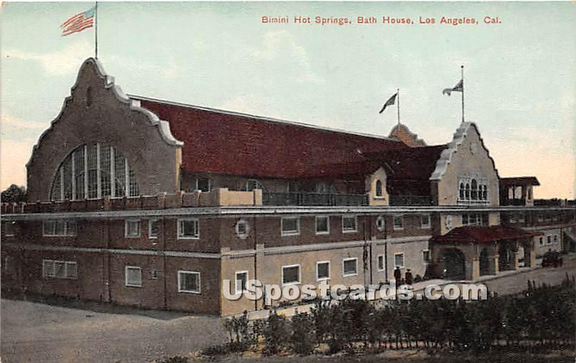 Bimini Hotel Springs, Bath House - Los Angeles, California CA Postcard