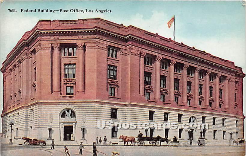 Federal Building, Post Office - Los Angeles, California CA Postcard