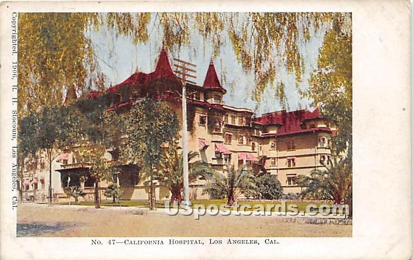 California Hospital - Los Angeles Postcard