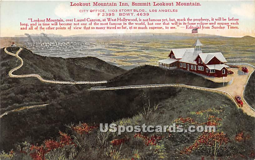 Lookout Mountain Inn - Los Angeles, California CA Postcard