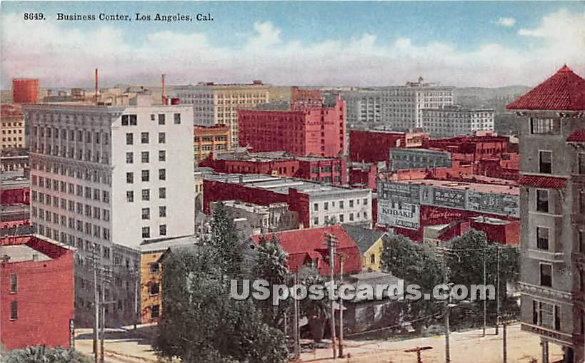Business Center - Los Angeles, California CA Postcard