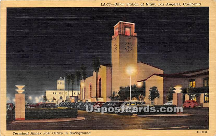 Union Station, Terminal Annex Post Office - Los Angeles, California CA Postcard