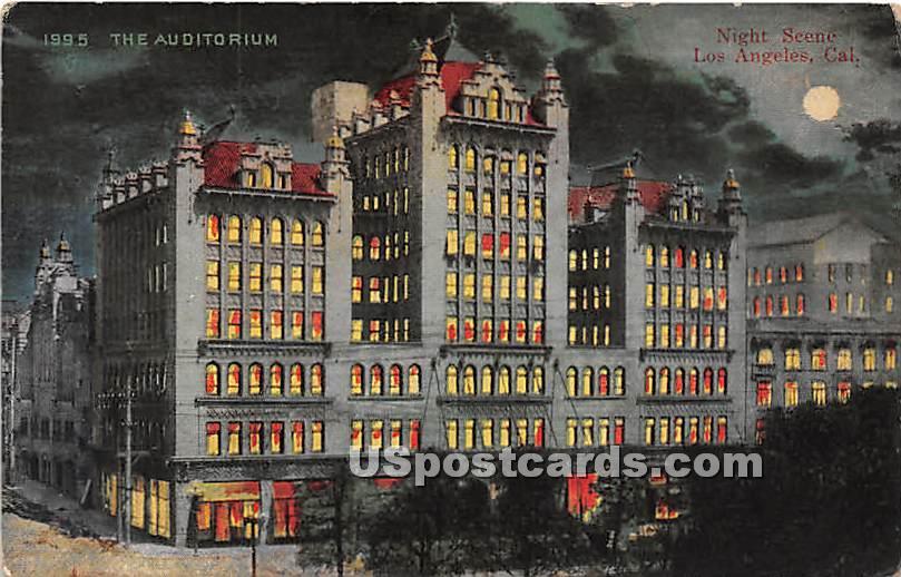 The Auditorium - Los Angeles, California CA Postcard