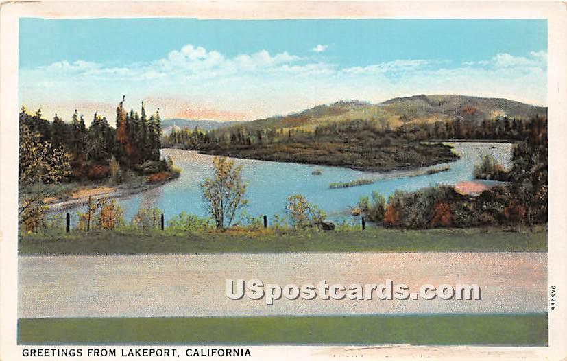Lakeport, California CA Postcard