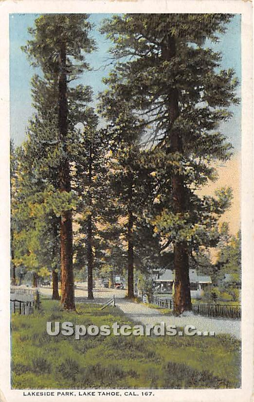 Lakeside Park - Lake Tahoe, California CA Postcard