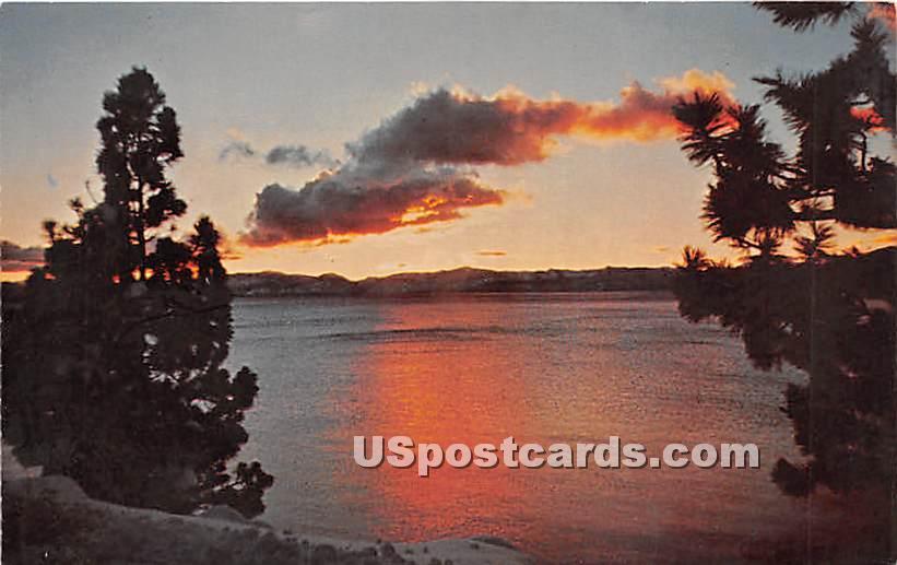 Sunset - Lake Tahoe, California CA Postcard
