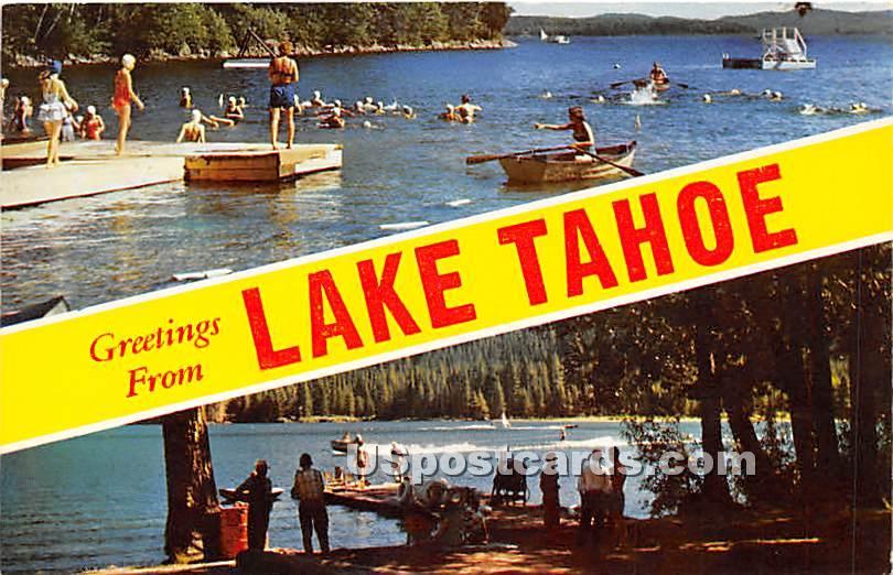 Greetings from - Lake Tahoe, California CA Postcard