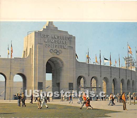 Los Angeles Memorial Coliseum - California CA Postcard