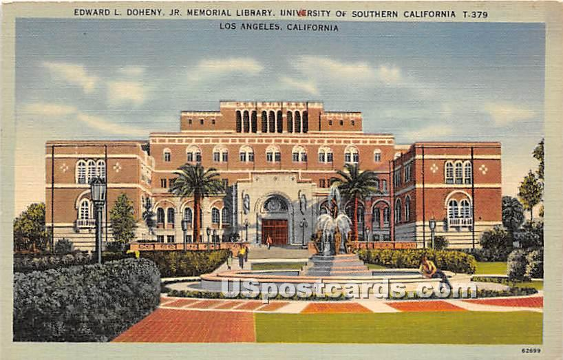 Edward L Doheny, Jr Memorial Library, University of Southern California - Los Angeles Postcard