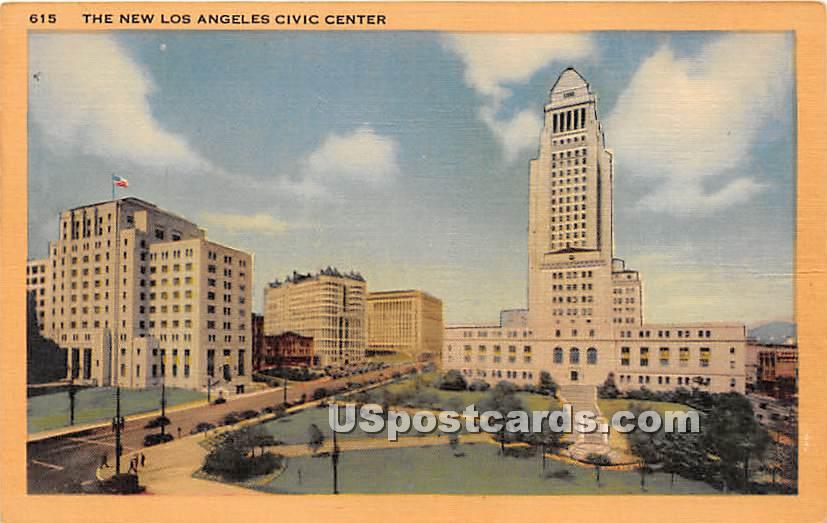 New Los Angeles Civic Center - California CA Postcard