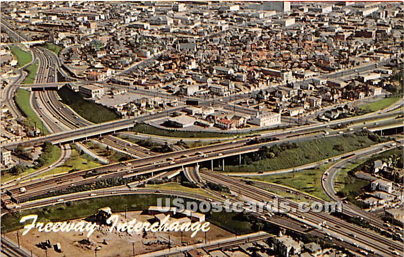 Interchange - Los Angeles, California CA Postcard
