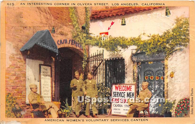Olv American Women's Voluntary Services, Olvera Street - Los Angeles, California CA Postcard