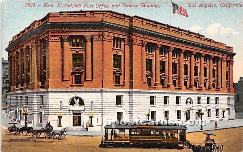 New $1,500,000 Post Office & Federal Bu8ilding - Los Angeles, California CA Postcard